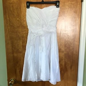Express White Strapless Dress Size 8